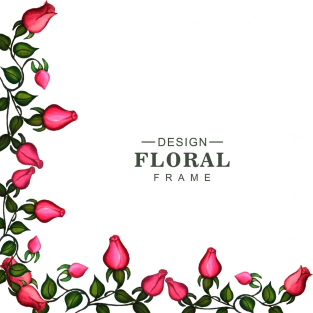 626x626 Corner Of A Floral Frame Vector Free Download