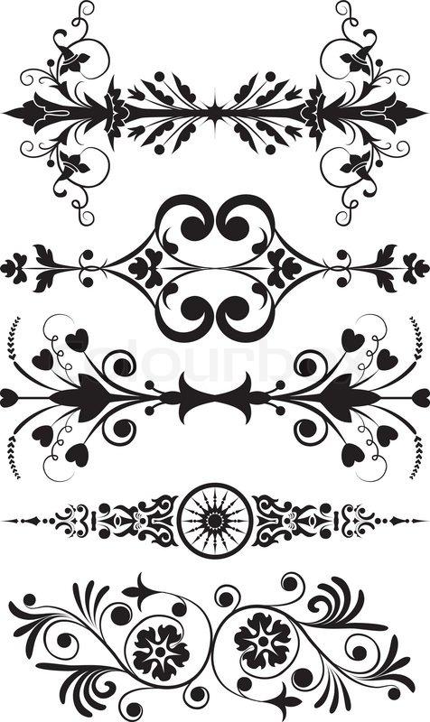 476x800 Element For Design, Corner Flower, Vector Illustration Stock