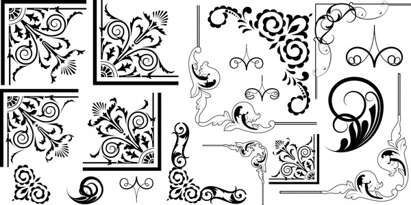 600x300 Floral Corner Vector Free Vector Download (8,914 Free Vector) For