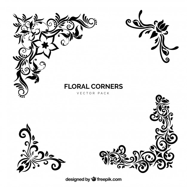 626x626 Vector Floral Corners Vector Free Download