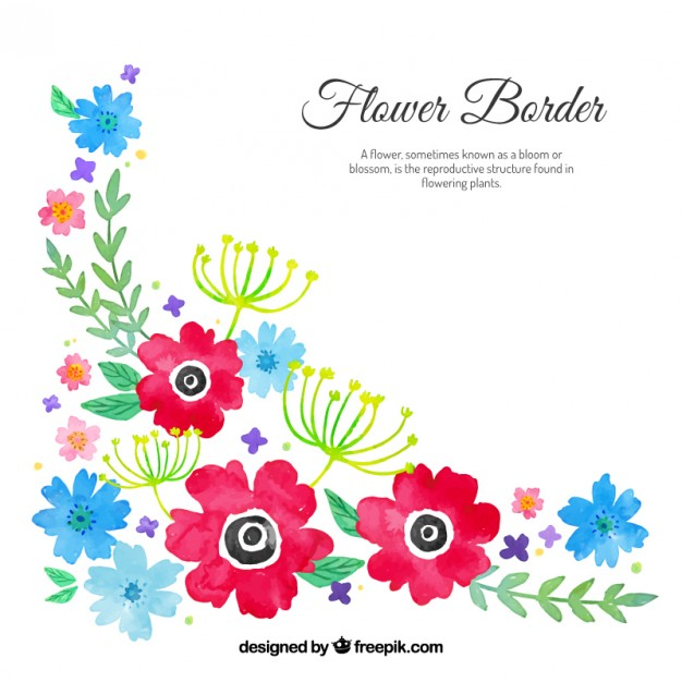 626x626 Watercolour Floral Corner Vector Free Download