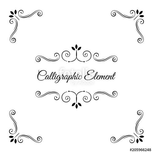 500x500 Ornate Frames, Scroll Elements, Calligraphic Corners Set.