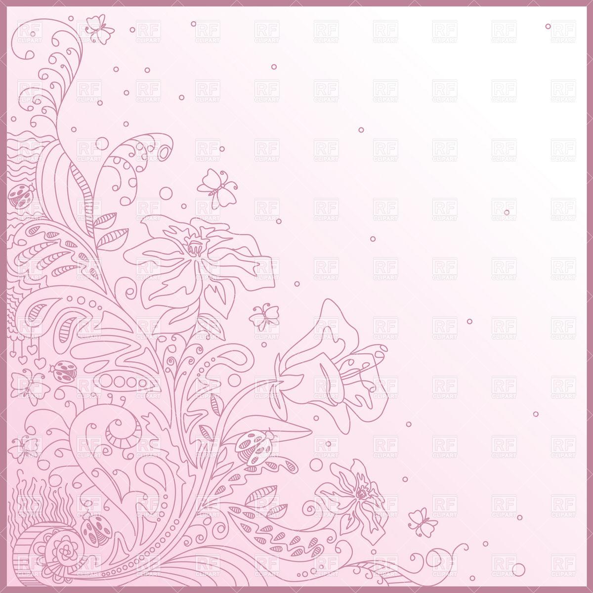 1200x1200 Purple Flourish Linework Corner Vector Image Vector Artwork Of