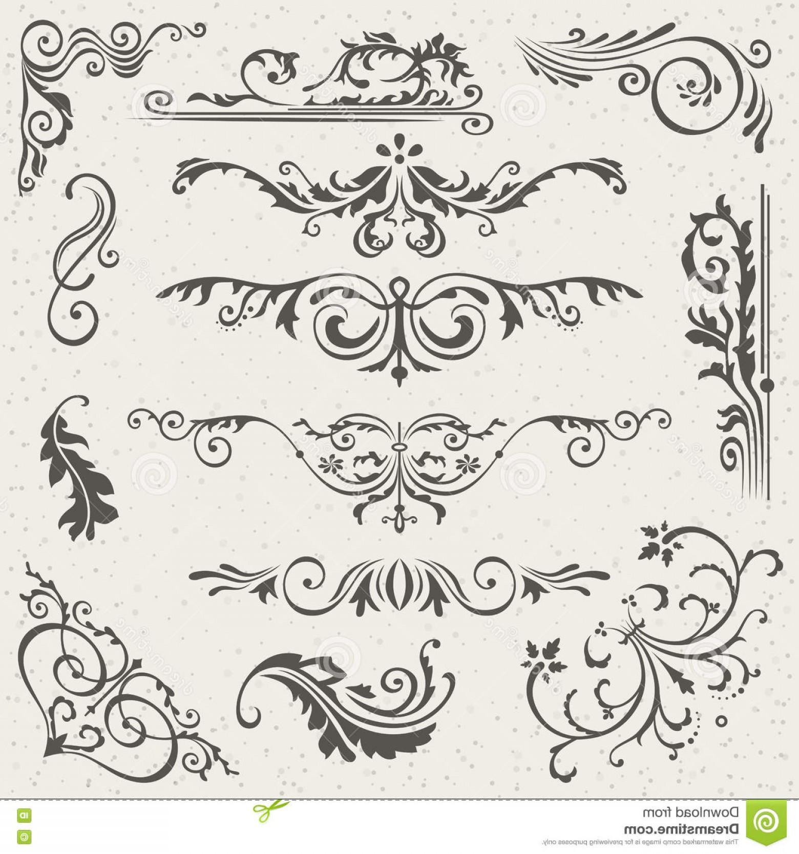 1560x1668 Stock Illustration Flourish Border Corner Frame Elements