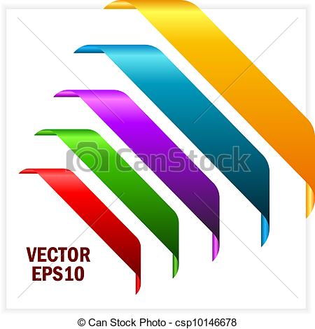 450x470 Corner Ribbon Banner