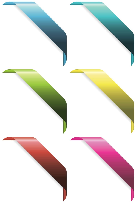 1000x1500 Corner Ribbons Vector Web Designs Corner And