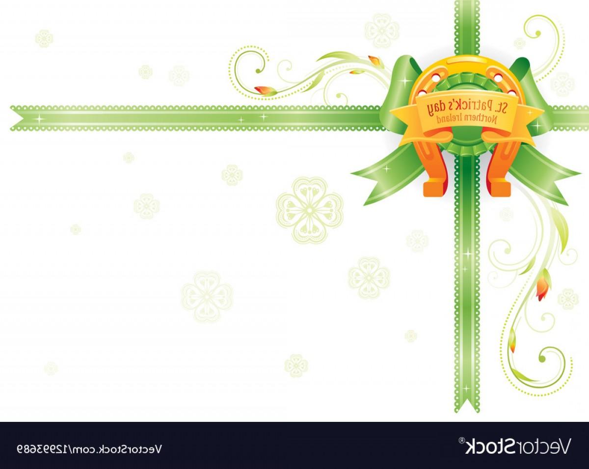 1200x955 Golden Lucky Horseshoe Corner Ribbon Bow Vector Shopatcloth