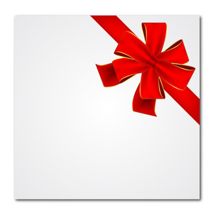 300x300 Red Vector Gift Ribbon