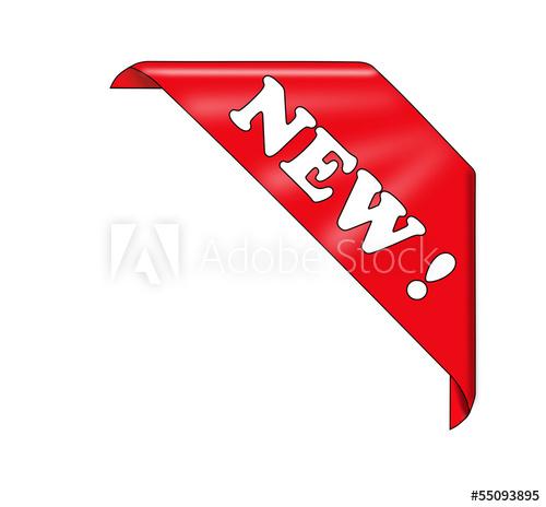 500x464 Red New Corner Ribbon