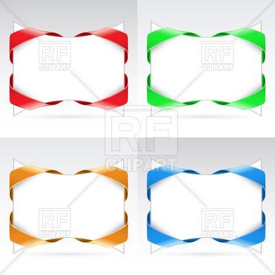 400x400 Ribbon Vector Blank Corner Ribbons Royalty Free Vector Clip Art