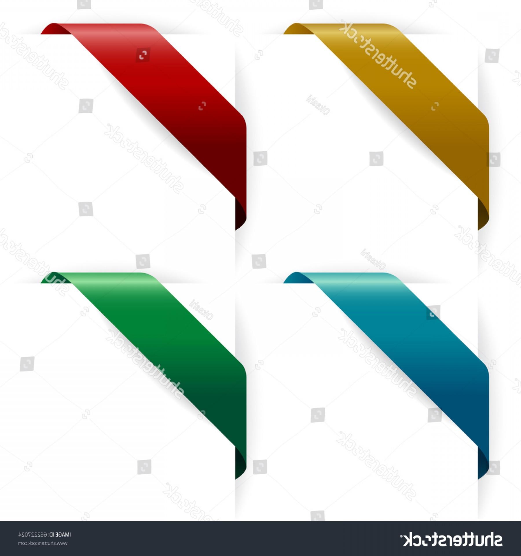 1800x1920 Set Corner Ribbon Vector Illustration Lazttweet