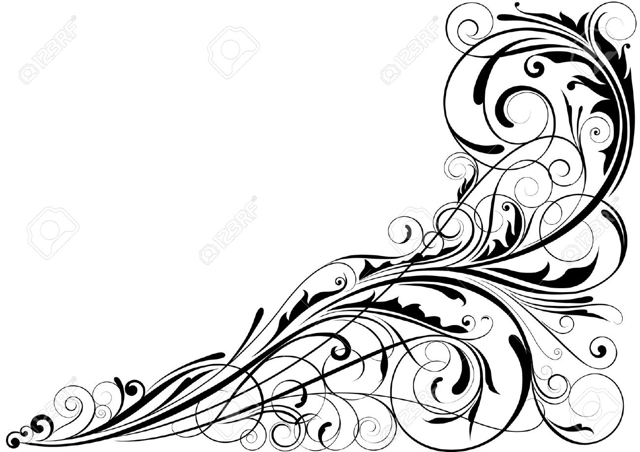 Corner Swirl Vector