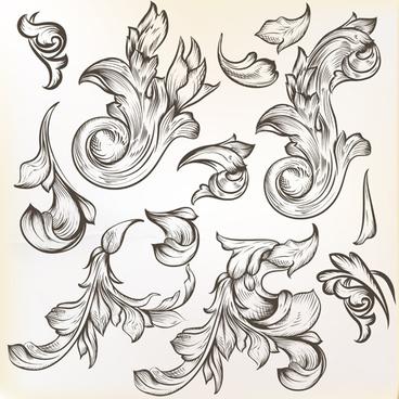 368x368 Corner Swirl Ornament Free Vector Download (13,854 Free Vector