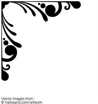 335x355 Download Corner Swirls Frame