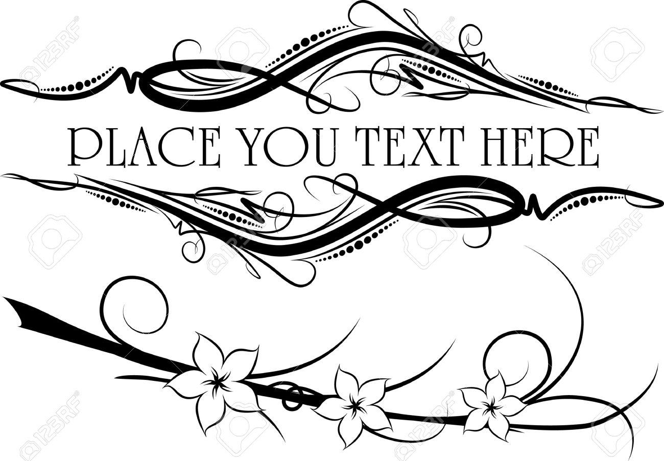 1300x903 Elegant Tets Frames Stock Vector Floral Corner Swirl