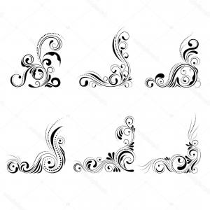300x300 Ornamental Borders And Flourish Corners Royal Ornament Swirls