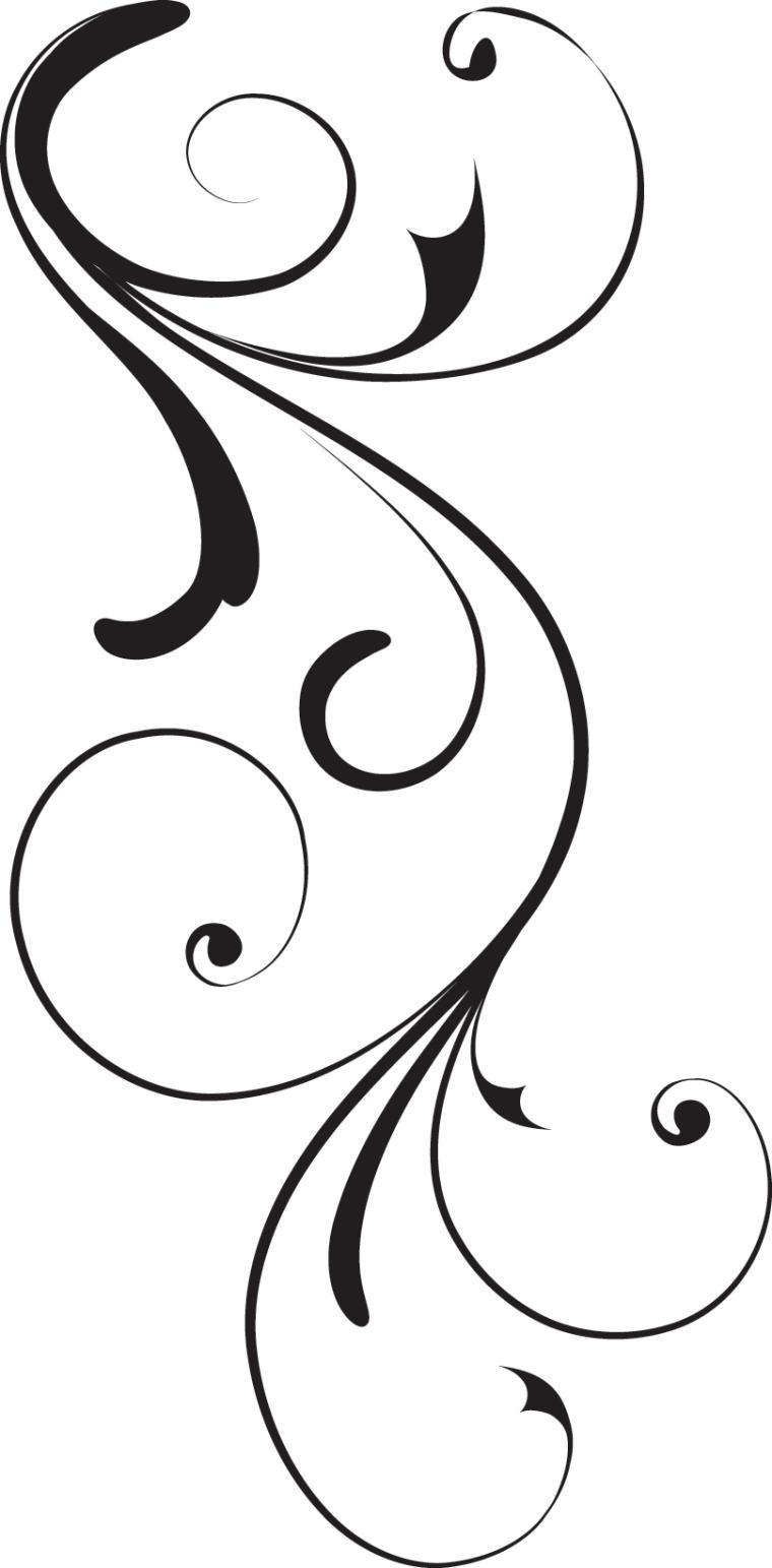 760x1543 Swirl Corner Black Design Royalty Free Stock Vector Art