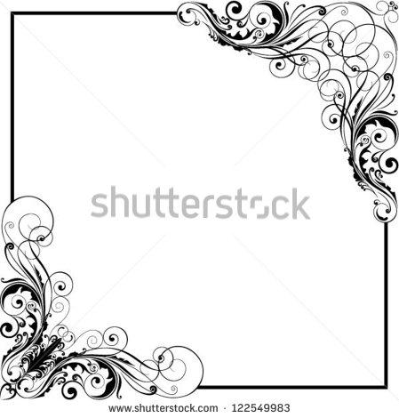 449x470 20 Vector Corner Swirls Images