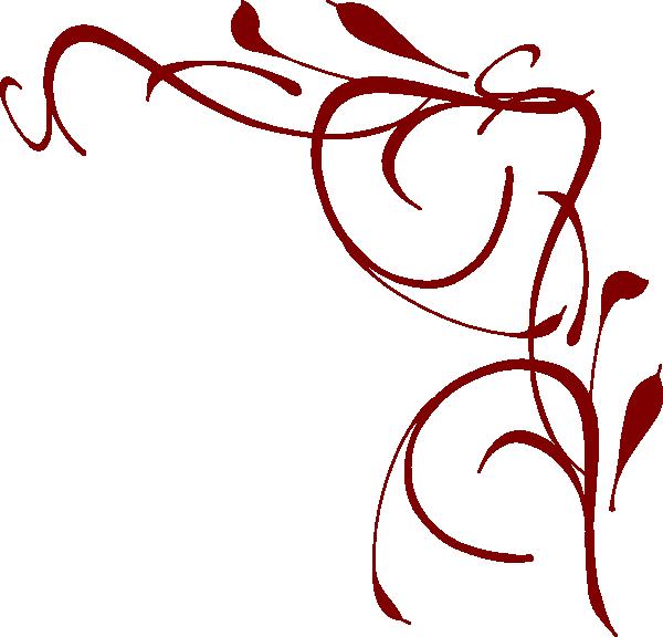 600x576 Corner Swirl Clip Art