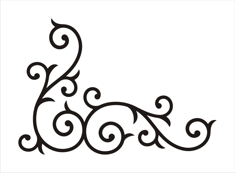 1500x1104 Corner Swirl Clipart