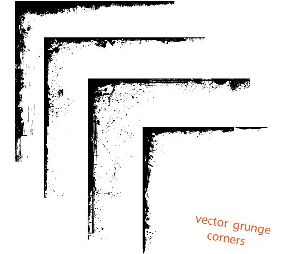 600x520 Free Vector Grunge Corner Designs Free Download Psd Files, Vectors