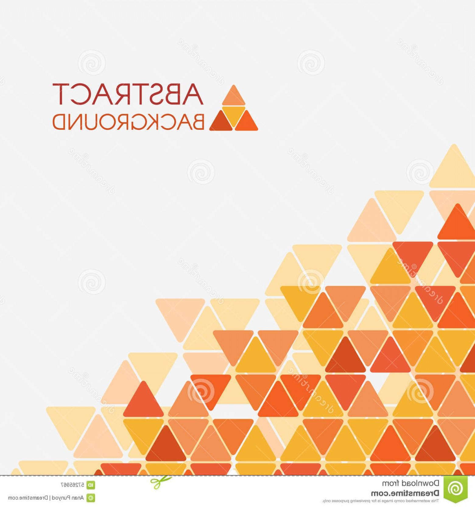 1560x1668 Stock Illustration Orange Yellow Triangle Corner Vector Abstract