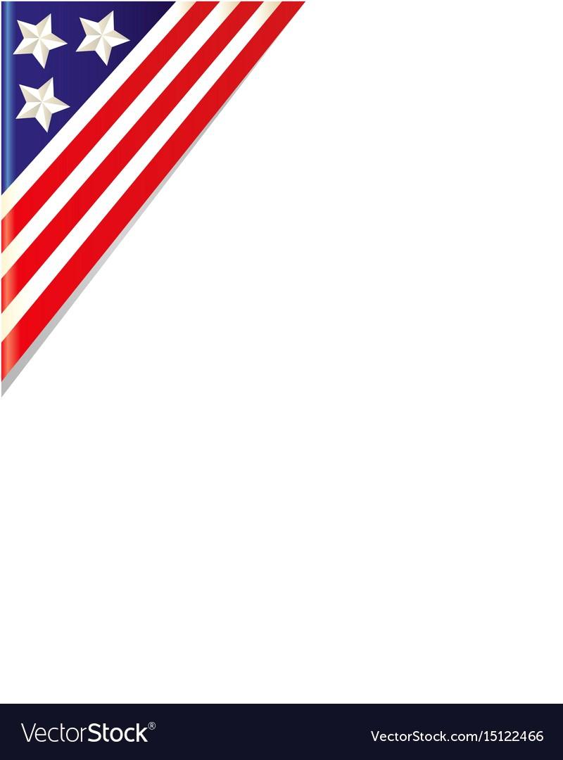 800x1080 Usa Flag Border Corner Vector 15122466 13