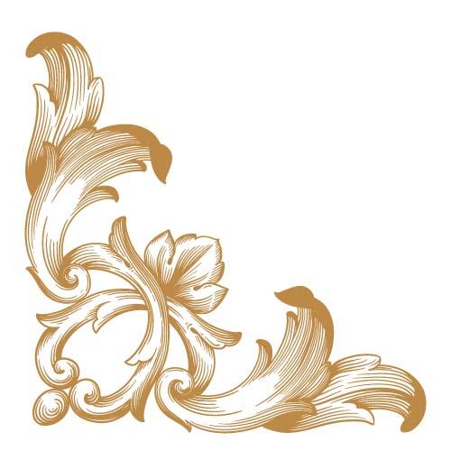 500x500 Classical Ornaments Corner Vector Free Download