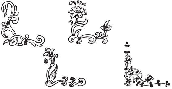 568x294 108 Decorative Floral Corners Free Vector Pack 123freevectors