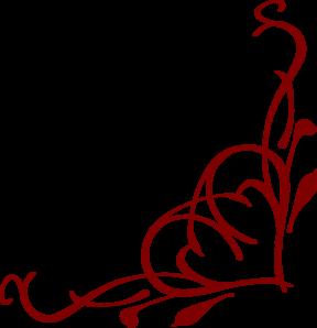 288x298 Corner Line Scroll Artwork Heart Corner Clip Art
