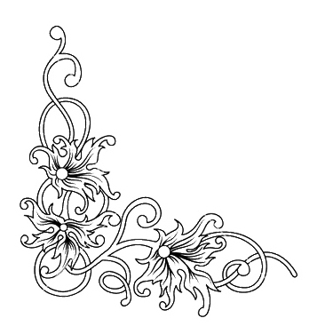357x376 Free Floral Corner Vector Free Vector Download 252271 Cannypic