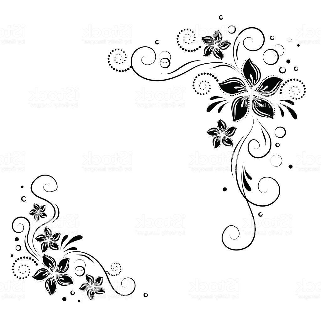 1024x1024 Unique Black Corner Swirl Clip Art Vector Design Free Vector Art