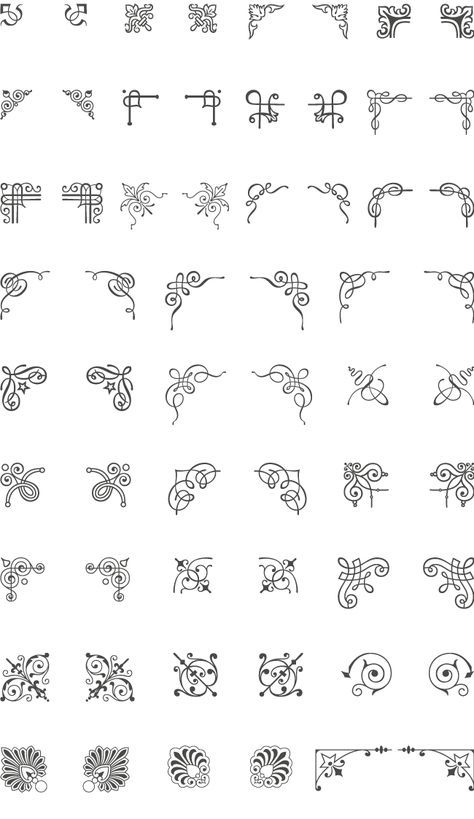 474x819 A Huge Collection Of 66 Corner Vector Ornaments. Add The