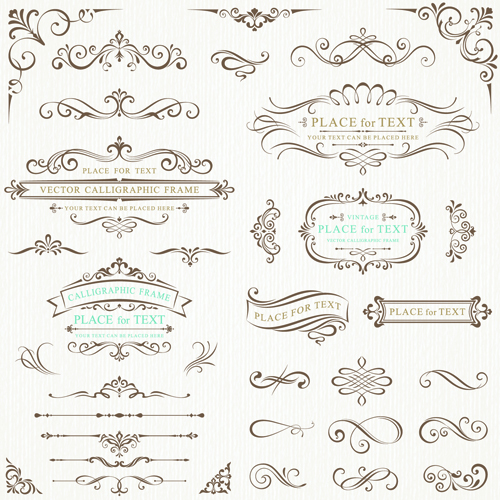 500x500 Calligraphy Decorative Frame With Corner Vector 01 Free Download
