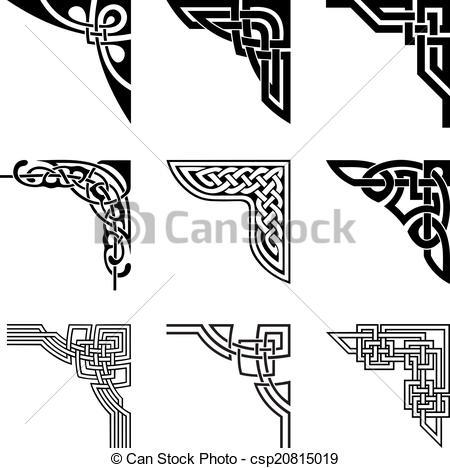 450x468 Celtic Knot Clipart Corner