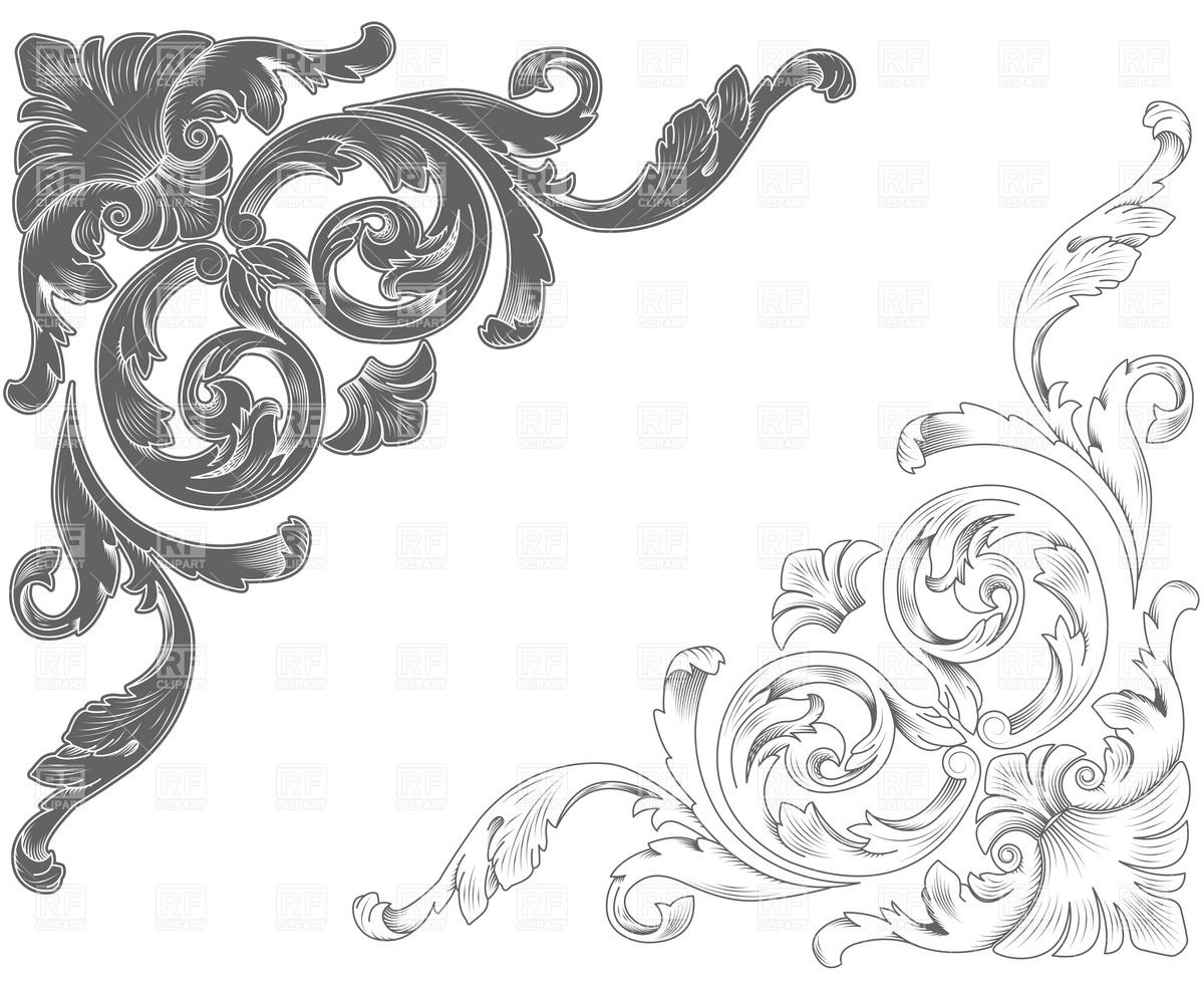 1200x982 Classic Ornamental Corners Vector Image Vector Artwork Of