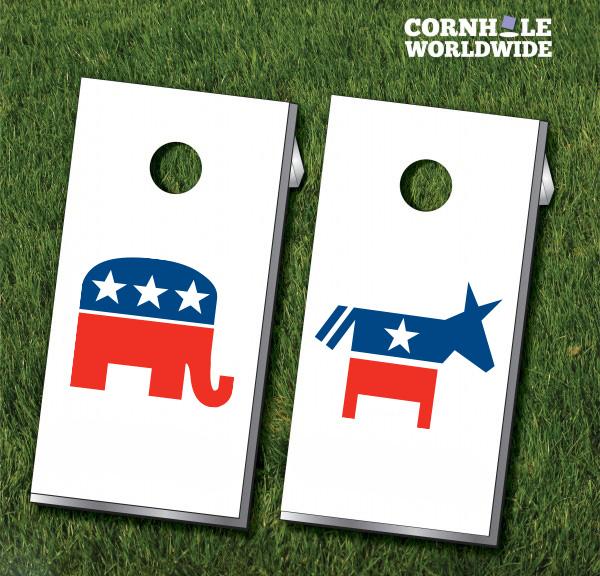 600x576 Democrat Vs Republican Cornhole Boards Cornhole Worldwide