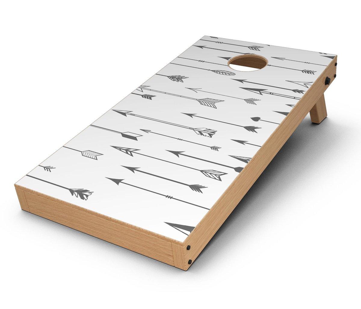 1200x1028 Vector Black Arrows Cornhole Board Skin Decal Kit
