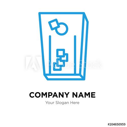 500x500 Cornhole Company Logo Design Template, Colorful Vector Icon For