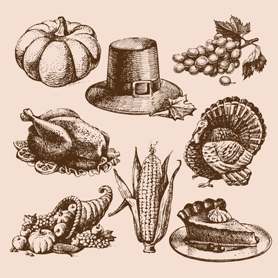 400x400 Cornucopia On Curated Vector Illustrations, Stock Royalty Free