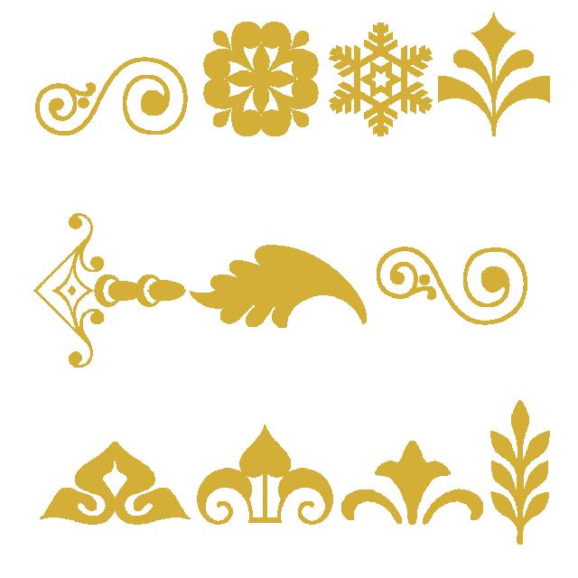 640x640 Gold Colors Style Cornucopia Vector, Gold Pattern, Font, Vector