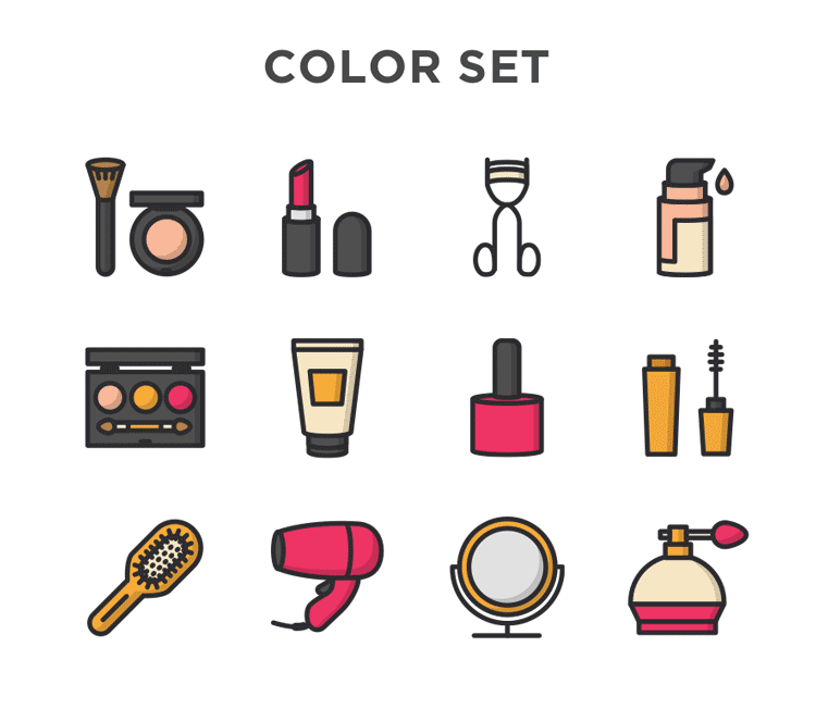 750x652 Free Cosmetic Vector Icons Free Icons Icons And Logos