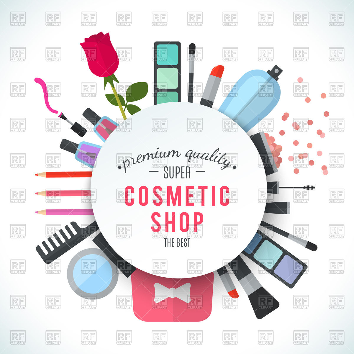 1200x1200 Professional Quality Cosmetics Shop Stylish Design Vector Image