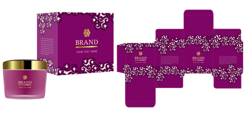 500x238 Purple Package Box With Cosmetic Vector Free Download