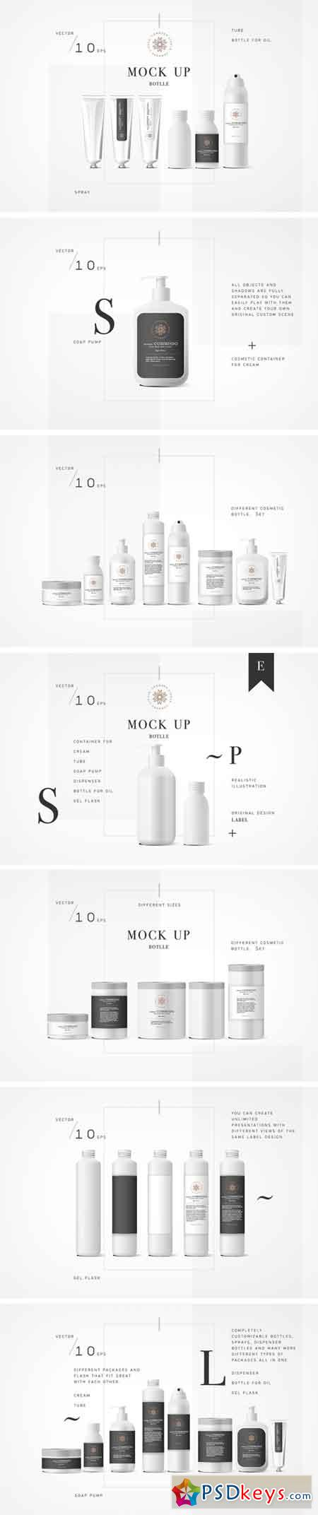 450x2144 Cosmetic Vector Mockup Bottle 1188669 Free Download Photoshop