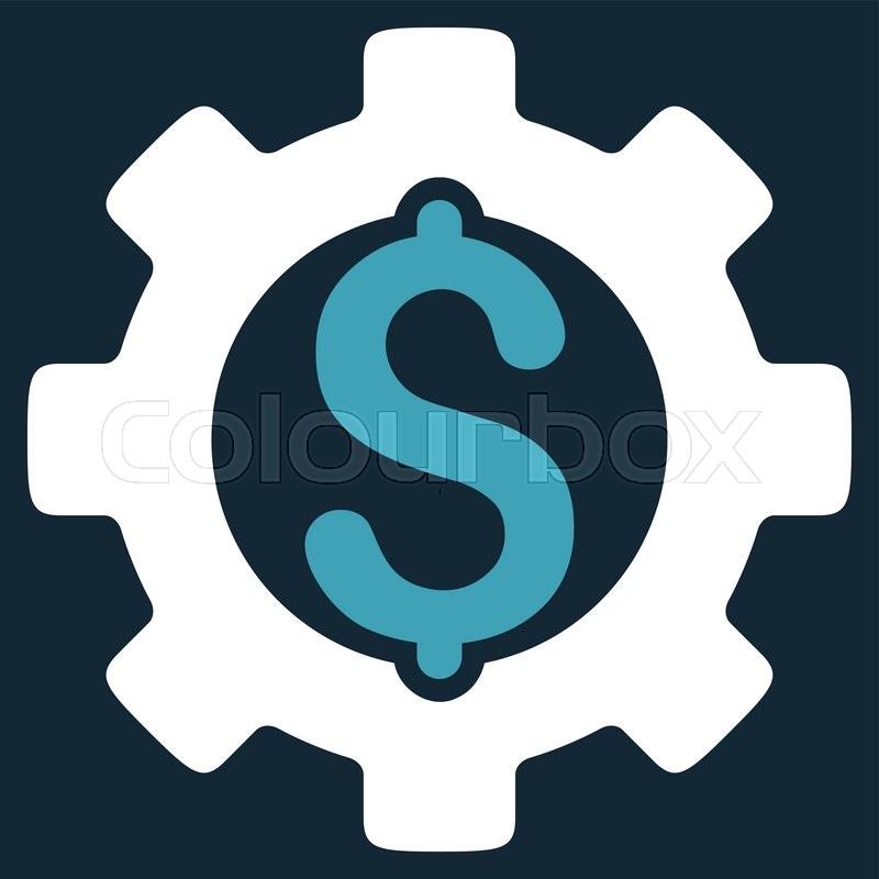 800x800 Development Cost Vector Icon. Style Is Bicolor Flat Symbol, Blue