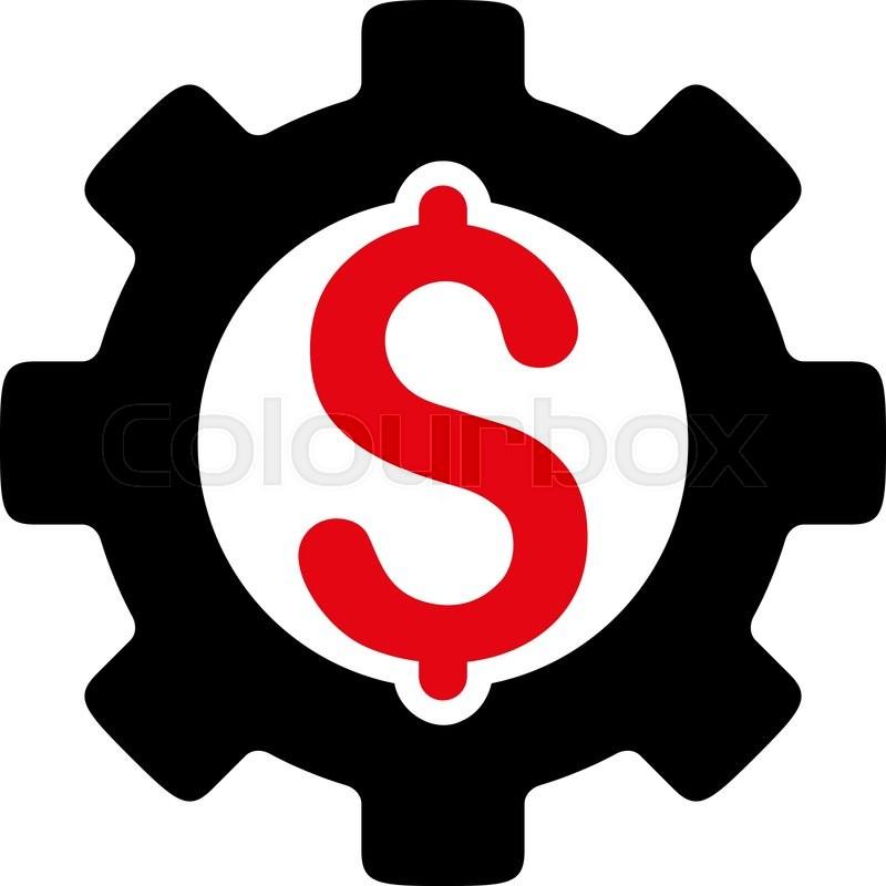800x800 Development Cost Vector Icon. Style Is Bicolor Flat Symbol