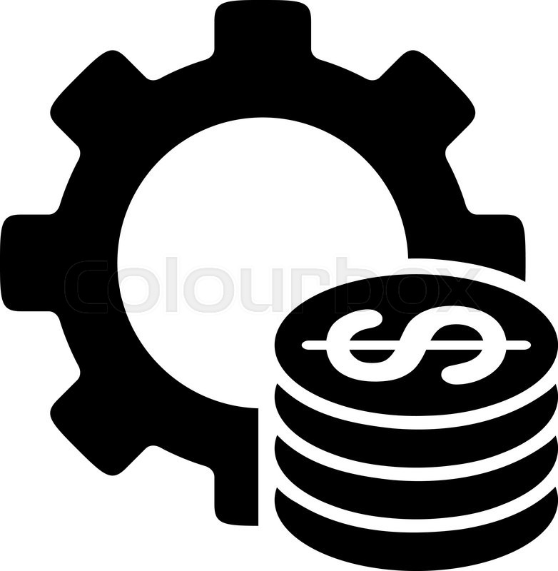 782x800 Development Cost Vector Icon. Style Is Flat Symbol, Black Color