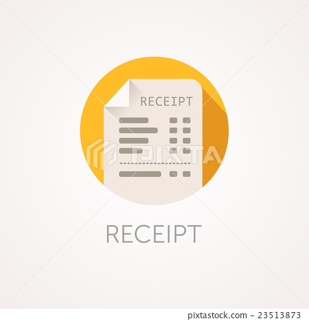 450x468 Vector Receipt Icon. The Bill With Total Cost