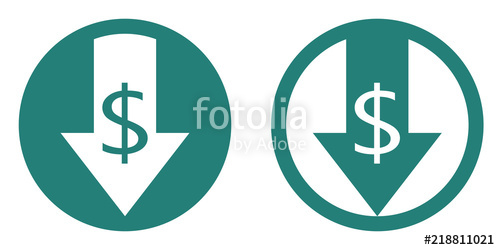 500x250 Cost Reduce Vector Icon Stock Image And Royalty Free Vector Files